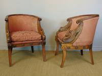 Fine Pair of Empire Style Mahogany Armchairs with Carved Swan Arms (6 of 7)