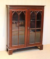 Mahogany Gothic Glazed Bookcase (7 of 11)