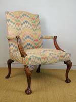 Fine Quality Georgian Style Mahogany Gainsborough Chair c.1920 (2 of 10)