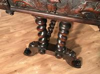 Victorian Carved Oak Desk Library Table (16 of 25)