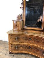 Antique 19th Century Concave Mahogany Dressing Table (12 of 21)