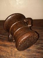 c.1540 A.D. Henry Vlll Period Tudor Gothic Cast Iron Mortar (7 of 10)