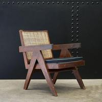 Low Easy Armchair, V-type Legs and Cane by Pierre Jeanneret (5 of 5)
