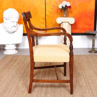 Armchair Fruitwood Desk Library Chair 19th Century Victorian Carved (5 of 11)