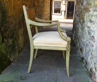 French Painted Regency Elbow Chair (7 of 9)