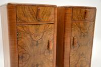 Pair of Art Deco Figured  Walnut Bedside Cabinets (3 of 10)