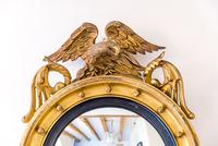 Regency Giltwood & Gesso Circular Convex Mirror (2 of 4)