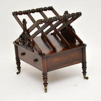 Antique Regency Rosewood Canterbury Magazine Stand (3 of 12)