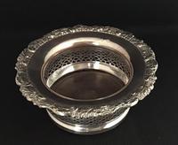 Georgian Silver Plated Deep Bottle Coaster (2 of 4)