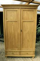 Quality! Large Old Pine Double 'Knock Down' Wardrobe - We Deliver! (17 of 17)