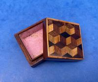 Victorian Rosewood & Tunbridge Ware Stamp Box (9 of 13)