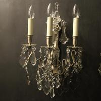 French Pair of Silver Gilded Wall Sconces (2 of 10)