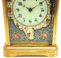 Superb French 8 Day Champleve Carriage Clock Cylinder Platform, Working c.1900 (11 of 12)