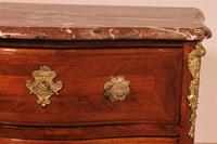 Small Curved Louis XV Commode / Chest of Drawers with Marble - 18th Century (5 of 15)