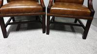 Pair of Leather Library Chairs (3 of 10)