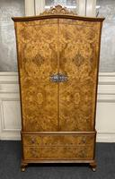 Queen Anne Burr Walnut Fitted Wardrobe