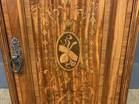 Inlaid Satinwood Bedside Cupboard (11 of 11)