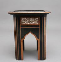 19th Century ebony and inlaid occasional table (5 of 9)