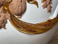 Beautiful Hollywood Regency Style Oversized Porcelain & Terracotta Cherub Floor Vase (10 of 52)