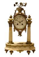 Mid 19th Century French Ormolu & Alabaster Portico Clock (2 of 8)
