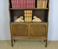 Antique Mahogany Waterfall Bookcase Cabinet (7 of 9)