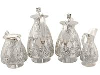Sterling Silver Four Piece Tea and Coffee Service - Antique George V (1911) (20 of 21)