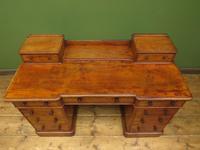 Antique Satin Birch Pedestal Desk by Heal & Sons (17 of 21)