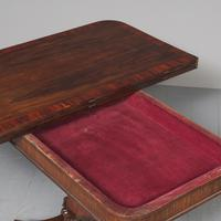Antique William IV Rosewood Fold Over Tea Table (10 of 10)