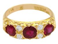 1.85ct Ruby & 0.20ct Diamond, 18ct Yellow Gold Dress Ring - 1923 (4 of 9)