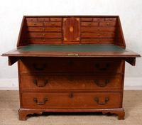 Georgian Oak Writing Bureau Cabinet (4 of 12)