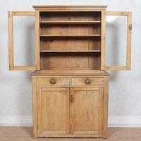 Arts & Crafts Pine Glazed Bookcase School Display Cabinet Dresser (4 of 12)