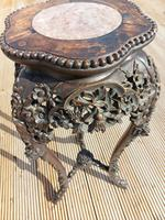 Tall 19th Century Chinese Marble Top Stand (4 of 4)