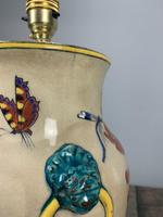 Victorian English Floral Vase Table Lamp, Rewired & Pat Tested (12 of 15)