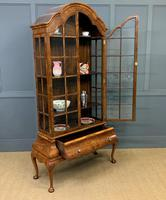 Burr Walnut Dome Topped Display Cabinet (19 of 21)