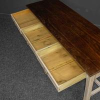 Country Style Three Drawer Dining Table (4 of 10)