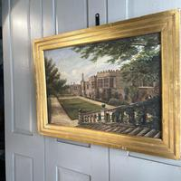 Antique Oil Painting Study of Haddon Hall Derbyshire Signed A E Richmond 1882 (7 of 9)