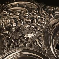 Pair of Flat Silver Swags Flowers & Grille Bon Bon Dishes (7 of 7)