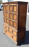 1940s Oak Linen Press with Slides & Drawers (4 of 5)
