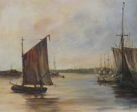 Fishing Vessels Comming Into Harbour by C.m.maskell 1846-1933 (4 of 5)