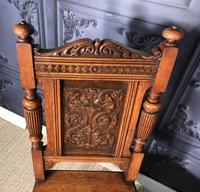 Pair of Victorian Oak Hall Chairs (16 of 17)