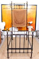 Cast Iron Bed Frame Brass Victorian 19th Century (3 of 9)