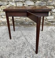 Antique Georgian Mahogany Fold Over Tea Table (18 of 27)