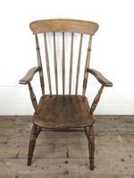 Antique 19th Century Beech & Elm Windsor Armchair (2 of 13)