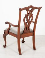 Set of 8 Mahogany Chippendale Style Dining Chairs (8 of 17)