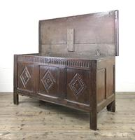 Antique 18th Century Oak Coffer With Carved Front (15 of 16)