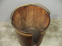 George III Mahogany & Brass Bound Plate Bucket (3 of 8)