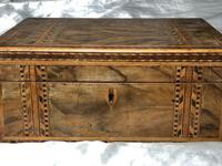 Fine Antique Mid Victorian 19th Century Tunbridge Sewing Workbox Parquetry Inlaid (4 of 12)