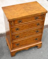 1940s Walnut Batchelors Chest Drawers with Table Top (2 of 6)