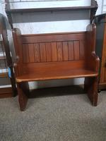 Small Antique Church Pew (2 of 5)