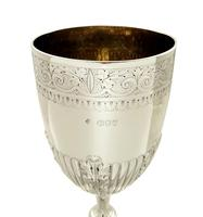 "Antique Victorian Sterling Silver 8"" Wine Goblet 1894 (7 of 9)"